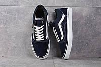 Кроссовки темно синие Vans old skool dark blue, фото 1