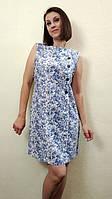 Летнее женское платье трапеция из льна П190
