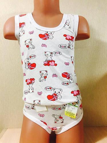 Комплект детский маечка + трусики на девочку размер 34 ( 6-7 лет )