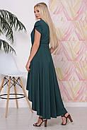/ Размер 50,52,54,56 / Женское платье со шлейфом Магия / цвет изумруд, фото 2