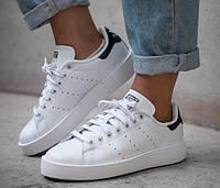 Кроссовки белые с черным задником Адидас Стен Смит!  мода 2019!, фото 1