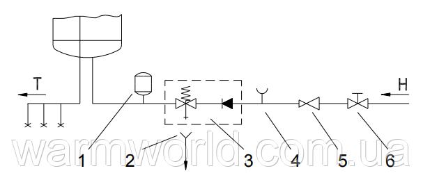 Схема подключения WS-U