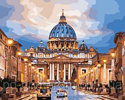 Раскраска по цифрам Собор Святого Петра (AS0533) 40 х 50 см ArtStory