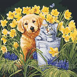 Картина по номерам В саду (AS0570) 40 х 40 см ArtStory [Без коробки]