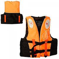 Детский спасательный жилет на застежках со свистком Profi (D25728)
