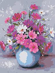 Раскраска по цифрам Цветы в вазе (AS0600) 30 х 40 см ArtStory (Без коробки)