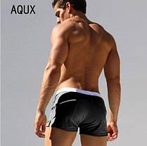 Чоловічі купальні плавки\ Боксери з Сіткою, Кишенею Пляжні AQUX Чорні, чоловічі Пляжні шорти чорні, фото 2