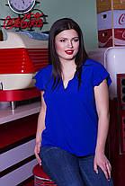 Однотонная легкая блуза, фото 2