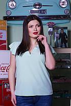Однотонная легкая блуза, фото 3