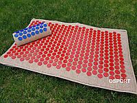 Набор коврик акупунктурный массажный + подушка Аппликатор Кузнецова (n-0003)