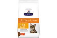 Хиллс Лечебный корм для кошек с мочекаменной болезнью/ Hill's PD Feline C/D/  курица 400 г