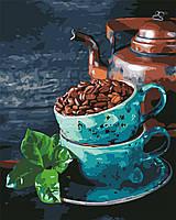 Рисование по номерам Натюрморт с кофе и мятой (AS0627) 40 х 50 см ArtStory