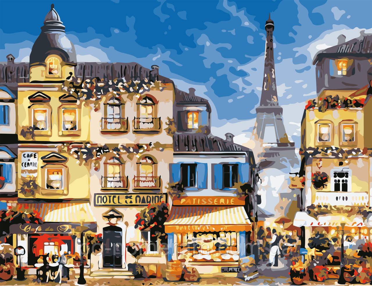 Розмальовки за номерами ArtStory У центрі Парижа (AS0651) 50 х 65 см