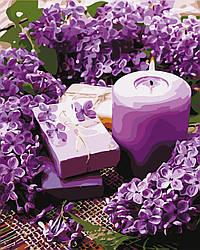 Картина по номерам Лавандовая свеча (AS0660) 40 х 50 см ArtStory
