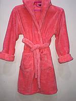 Детский махровый халат для девочки(6-14 лет)