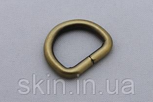 Полукольцо, ширина 20 мм, толщина 4 мм, цвет - антик, артикул СК 5069