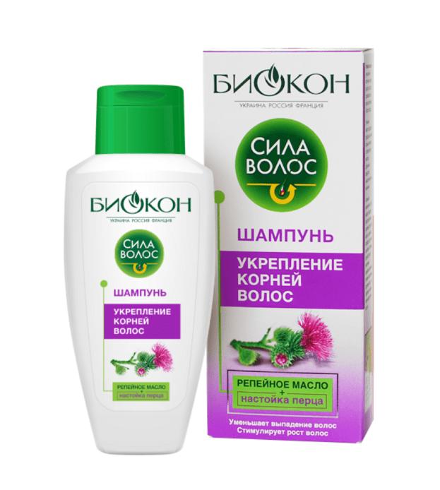 Шампунь «Укрепление корней волос» Сила волос Биокон 215 мл