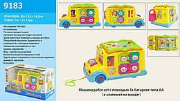 "Логика PLAY SMART 9183 ""Забавный автобус"" -книга батар.муз.свет.кор.31*16*26 ш.к./24/"