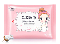 Влажные салфетки для снятия макияжа Rorec Natural Care 25 штук