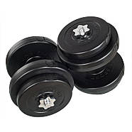 Гантелі розбірні 2х18 кг ORIGINAL-SPORT (Металевий Гриф), фото 2