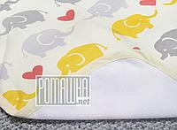 Двухсторонняя впитывающая детская водонепроницаемая пеленка 80х60 для новорожденных малышей 4242 Жёлтый