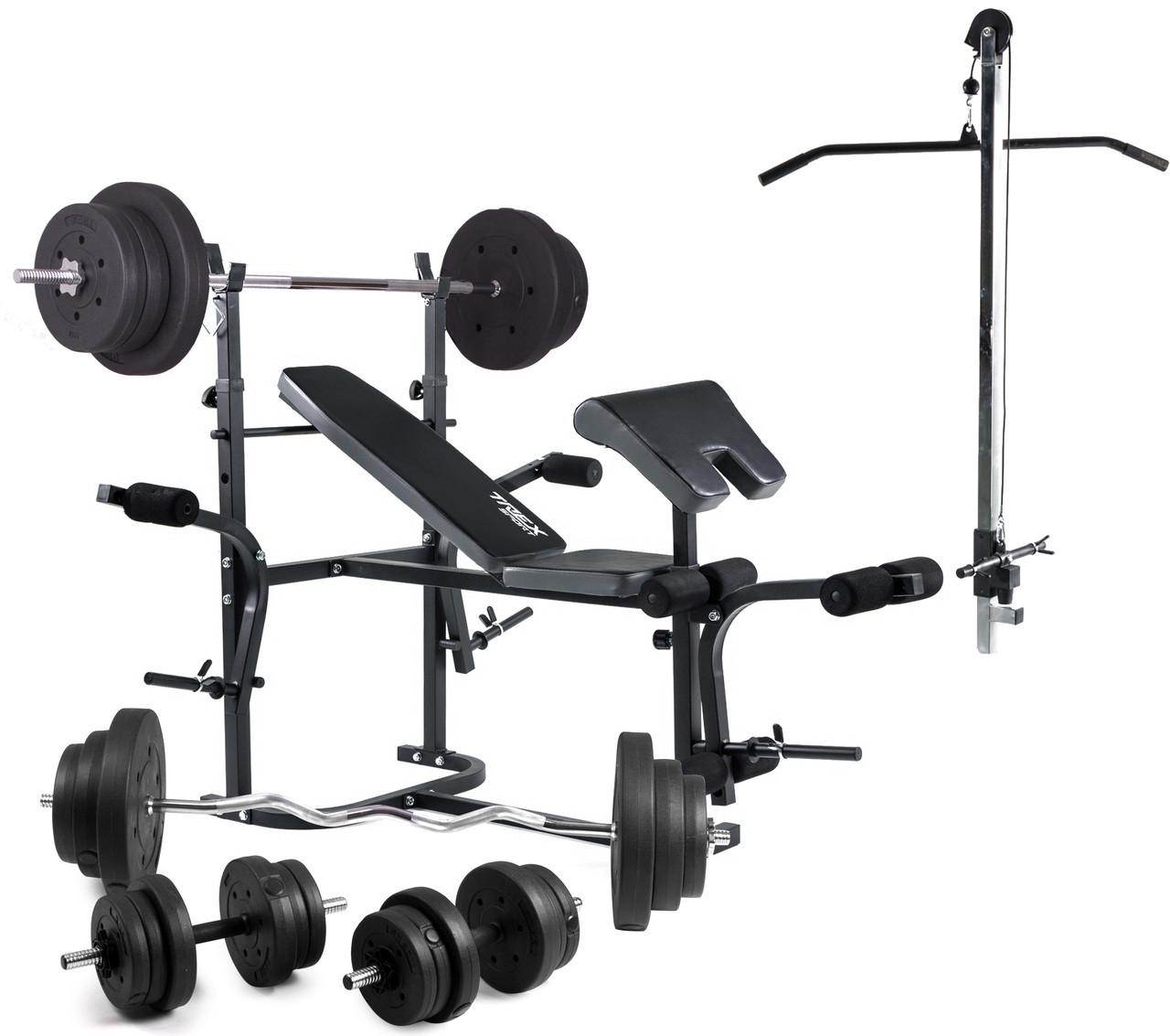Скамья PRO+Trex 1020 тяга , скотта набор штанга 98 кг