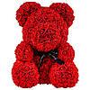 Мишка из роз 25 см в подарочной упаковке + подарок Кеды Converse All Star Low, фото 2