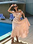Женский летний льняной сарафан с поясом (в расцветках), фото 4