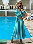 Женский летний льняной сарафан с поясом (в расцветках), фото 6