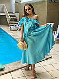 Женский летний льняной сарафан с поясом (в расцветках), фото 5