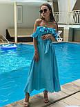 Женский летний льняной сарафан с поясом (в расцветках), фото 9
