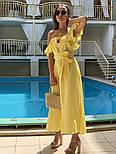 Женский летний льняной сарафан с поясом (в расцветках), фото 10