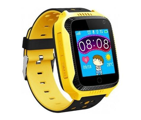 Детские умные часы с GPS Smart watch Q150S Желтые + защитная пленка