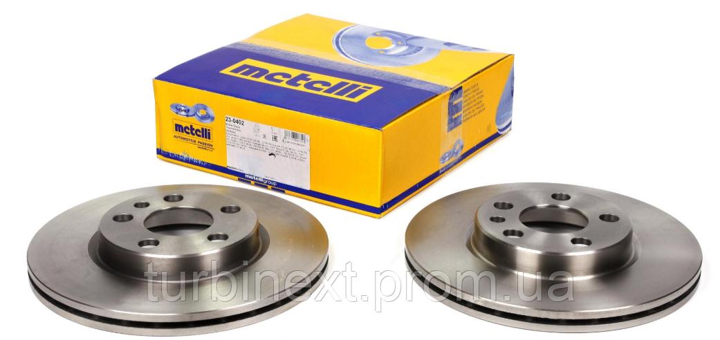 Диск тормозной (передний) Fiat Scudo/Peugeot Expert 96- (257x20) METELLI 23-0402