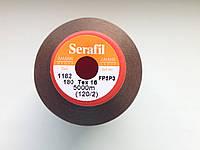 Amann Serafil  №120. цвет 1182 ( НЕЖНЫЙ КОРИЧНЕВЫЙ ). 5000 м