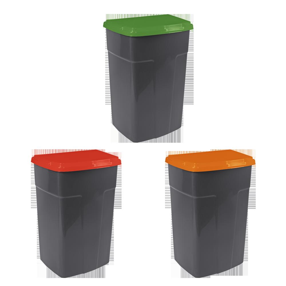 Набор контейнеров для сортировки мусора Алеана 90 л Разноцветный (90кзо)