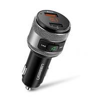 Bluetooth FM передатчик Ugreen автомобильное зарядное устройство Quick Charge 3.0 BT 4.2 (60283)