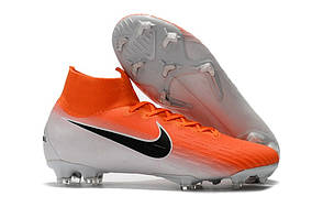 Бутсы Mercurial Superfly VI 360 Elite FG orange/white