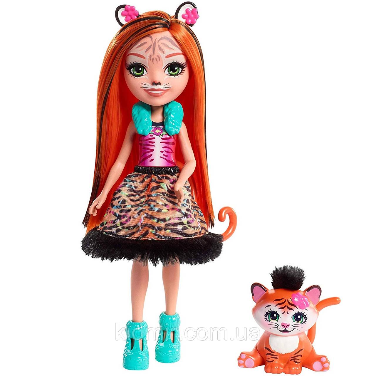 Кукла Enchantimals тигр Тензи Тигра Тайгер с питомцем FRH39