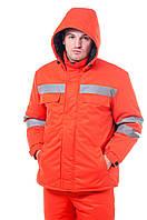 """Утеплена куртка """"Дорожник"""" зі світловідбиваючою стрічкою"""