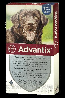 Адвантикс Bayer Advantix капли для собак весом более 25 кг 4 пипетки