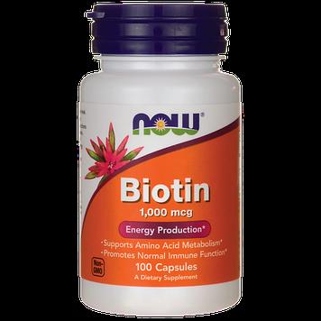 Biotin 1,000 mcg (100 caps) NOW