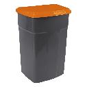 Набор контейнеров для сортировки мусора Алеана 90 л Серый с оранжевой крышкой, фото 2