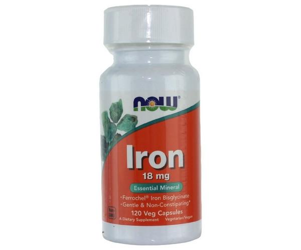 Iron 18 mg (120 veg caps) NOW