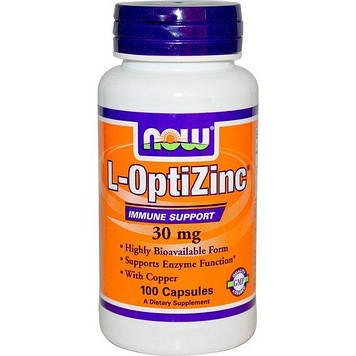 L-OptiZinc 30 mg (100 caps) NOW
