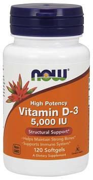 Vitamin D-3 5000 IU (120 softgels) NOW