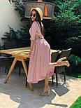 Женское стильное платье с юбкой-солнце (в расцветках), фото 4