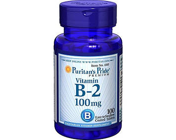 Vitamin B-2 100 mg (100 tab) Puritan's Pride