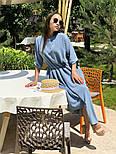 Женское стильное платье с юбкой-солнце (в расцветках), фото 7