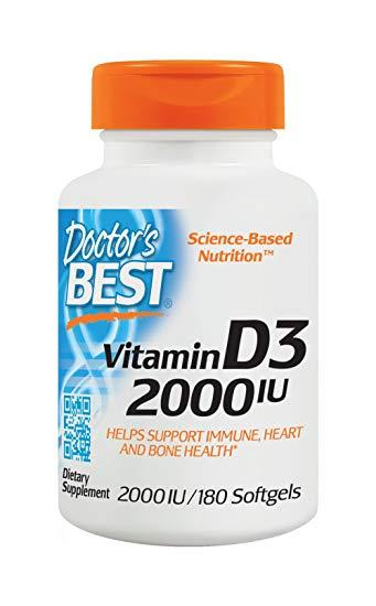 Витамин Д-3 (холекальциферол) Doctor's Best Vitamin D3 2000 IU 180 капсул